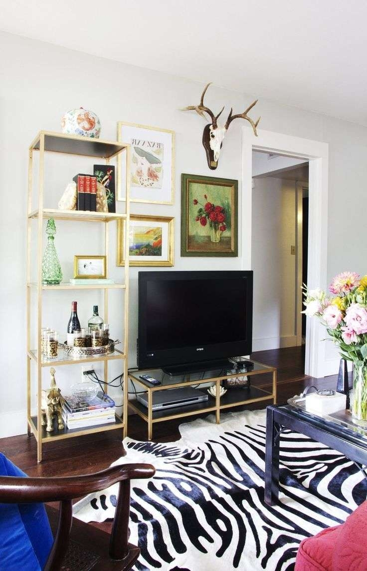 Best 25+ Small Tv Stand Ideas On Pinterest | 1 Shelf Tv Stand Pertaining To Gold Tv Cabinets (View 7 of 20)