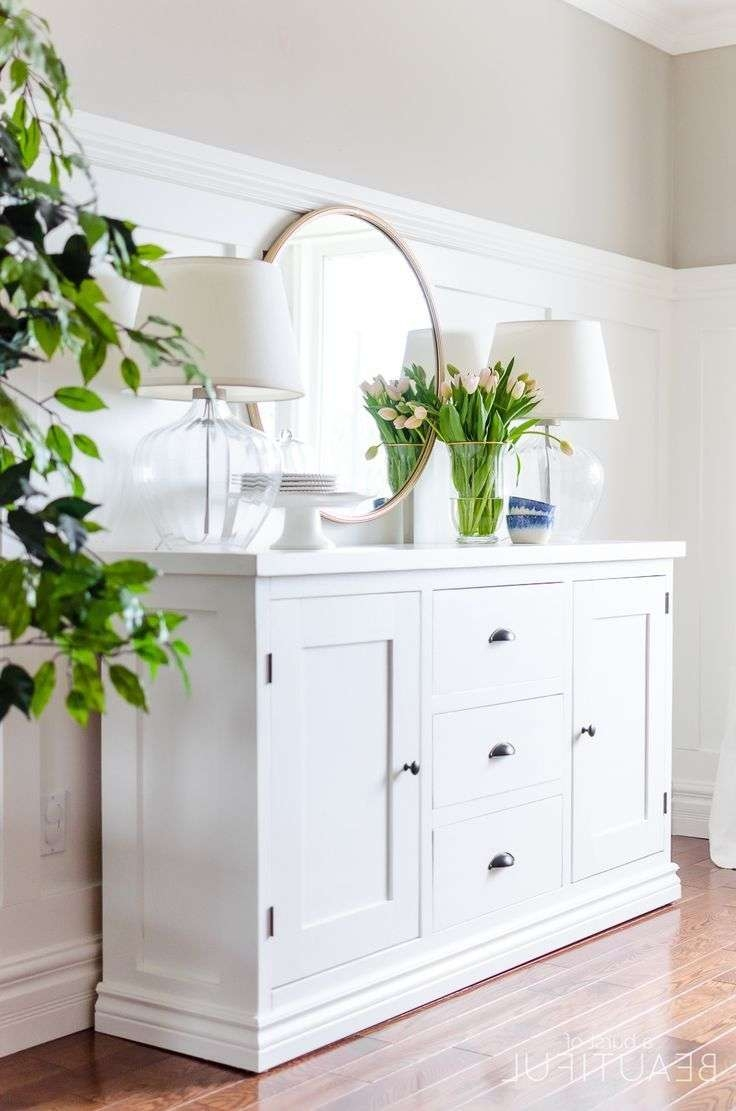 Best 25+ White Buffet Ideas On Pinterest | Dining Room Buffet In White Sideboards Tables (View 2 of 20)