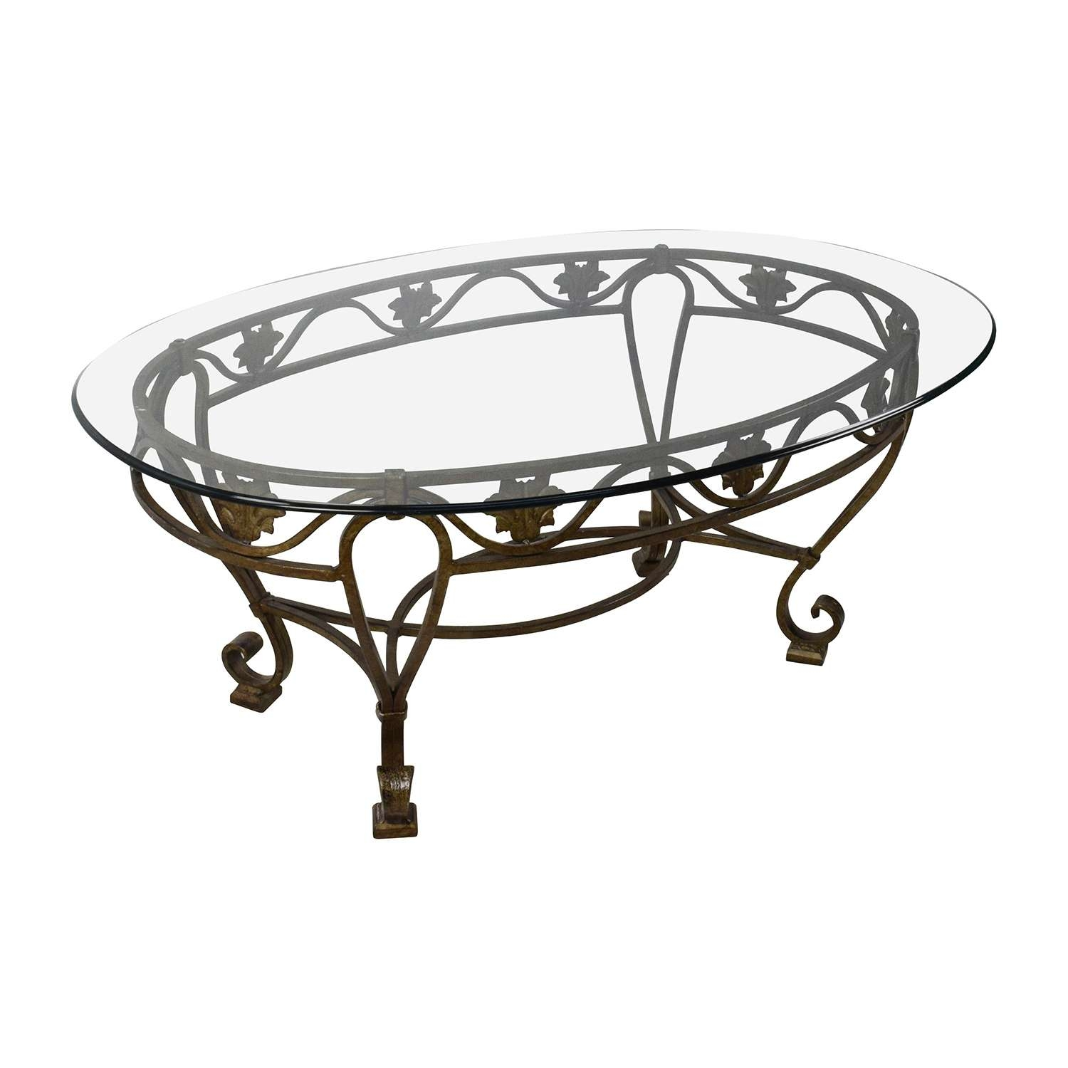 [%Best And Newest Antique Glass Top Coffee Tables In 90% Off – Iron Cast Glass Top Antique Coffee Table / Tables|90% Off – Iron Cast Glass Top Antique Coffee Table / Tables Regarding Trendy Antique Glass Top Coffee Tables%] (View 1 of 20)