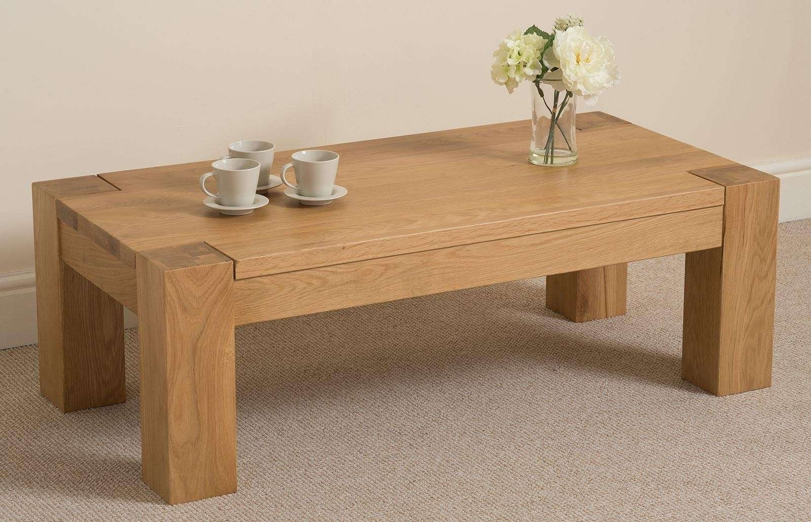 Best And Newest Chunky Oak Coffee Tables Regarding Kuba Oak Large Coffee Table (View 3 of 20)