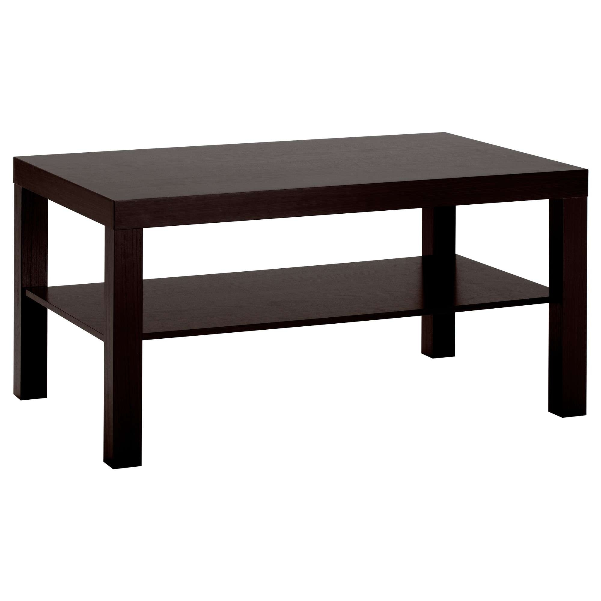 "Best And Newest Coffee Tables With Shelves In Lack Coffee Table – Black Brown, 35 3/8x21 5/8 "" – Ikea (View 7 of 20)"