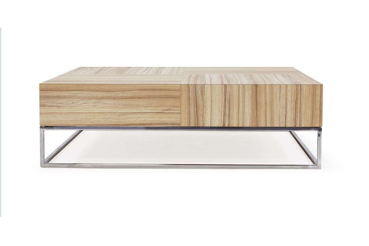 Best And Newest Contemporary Oak Coffee Table Intended For Contemporary Coffee Table / Oak – Chek – Hb Group (View 2 of 20)
