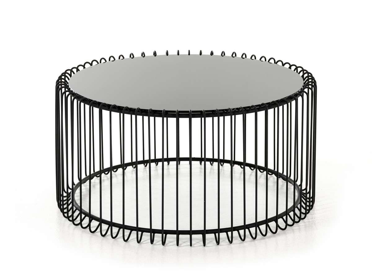 Best And Newest Contemporary Round Coffee Tables Pertaining To Beacon Contemporary Black Round Coffee Table (View 4 of 20)
