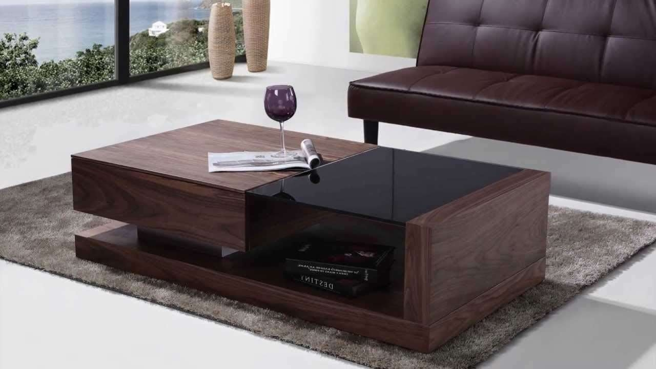 Best And Newest Dark Glass Coffee Tables In Beliani Coffee Table One Drawer Black Tempered Glass Top 130 With (View 3 of 20)