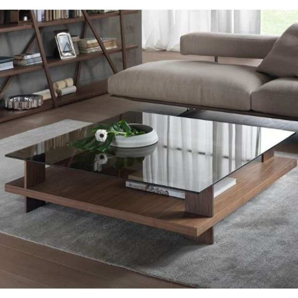 Best And Newest Glass Coffee Tables With Storage Pertaining To Coffee Table : Wonderful Round Coffee Table Wood And Glass Coffee (View 2 of 20)