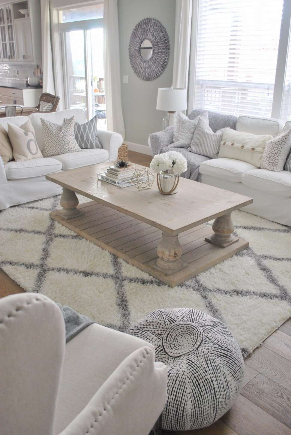 Best And Newest Grey Wash Wood Coffee Tables Intended For Coffee Tables : White Rectangle Coffee Table Amoeba How To (View 4 of 20)