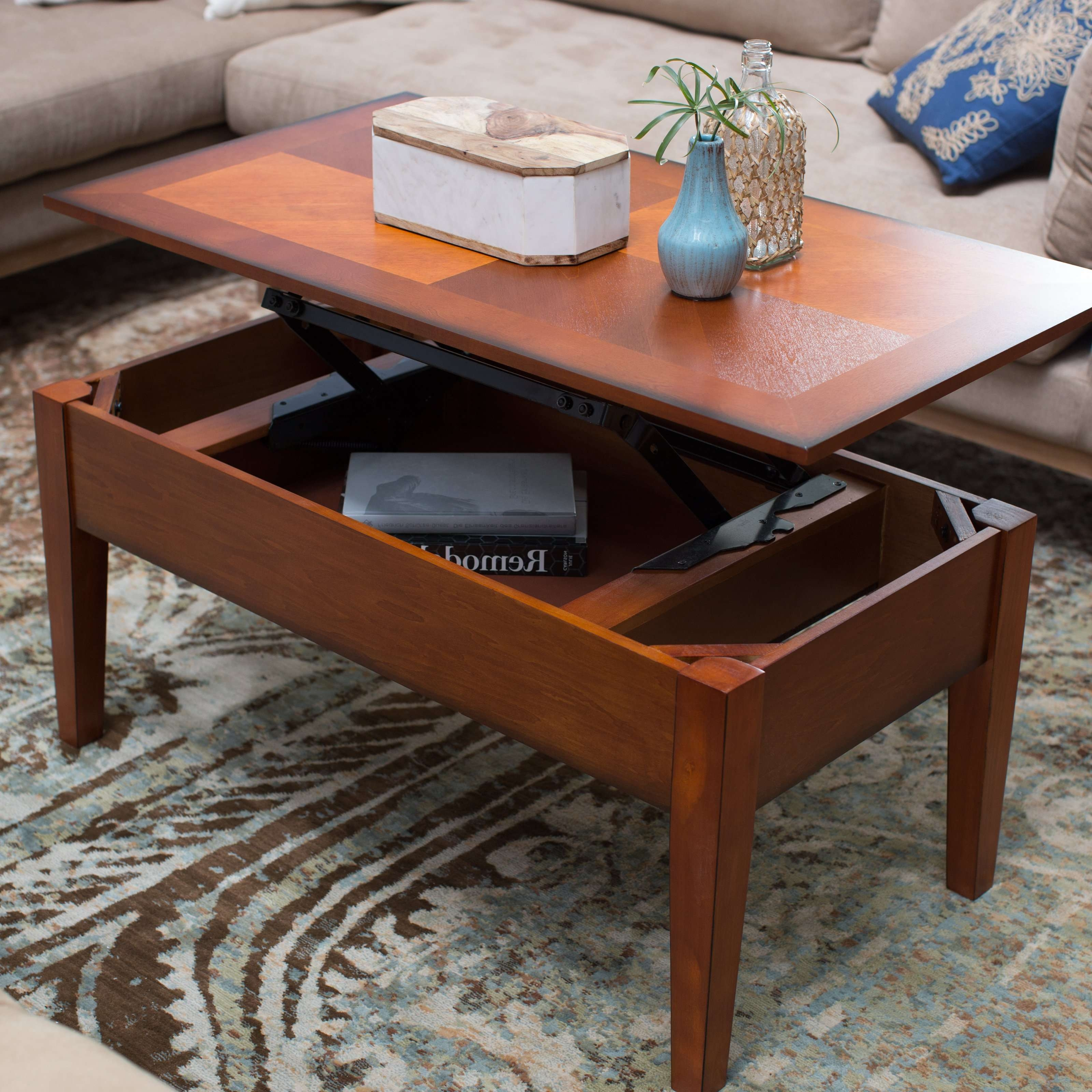 Featured Photo of Lift Top Oak Coffee Tables