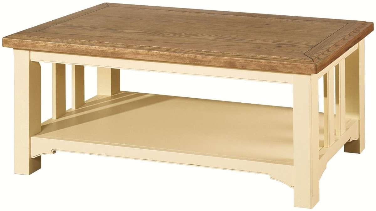 Best And Newest Oak And Cream Coffee Tables Pertaining To Cream Coffee Tables / Coffee Tables / Thippo (View 2 of 20)