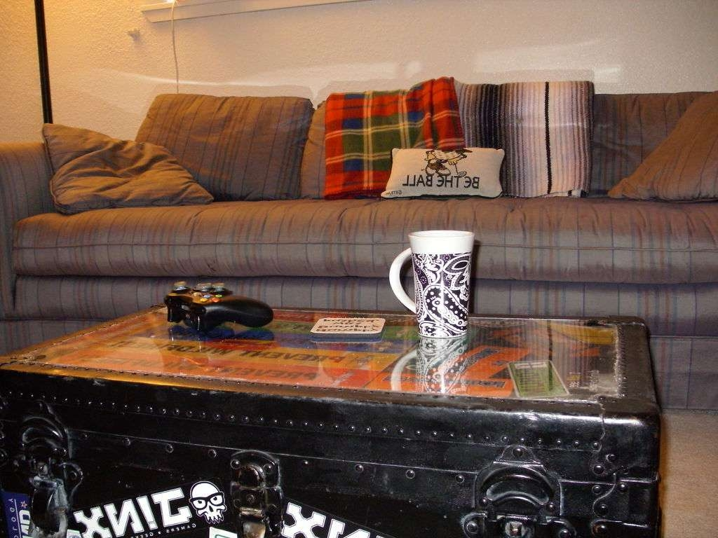 Best And Newest Old Trunks As Coffee Tables Regarding Plexiglass + Trunk = Coffee Table: 4 Steps (View 1 of 20)