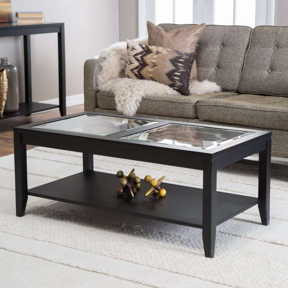 Best And Newest Retro Smoked Glass Coffee Tables With Regard To Coffee Table : Magnificent White Gloss Coffee Table Dark Brown (View 6 of 20)
