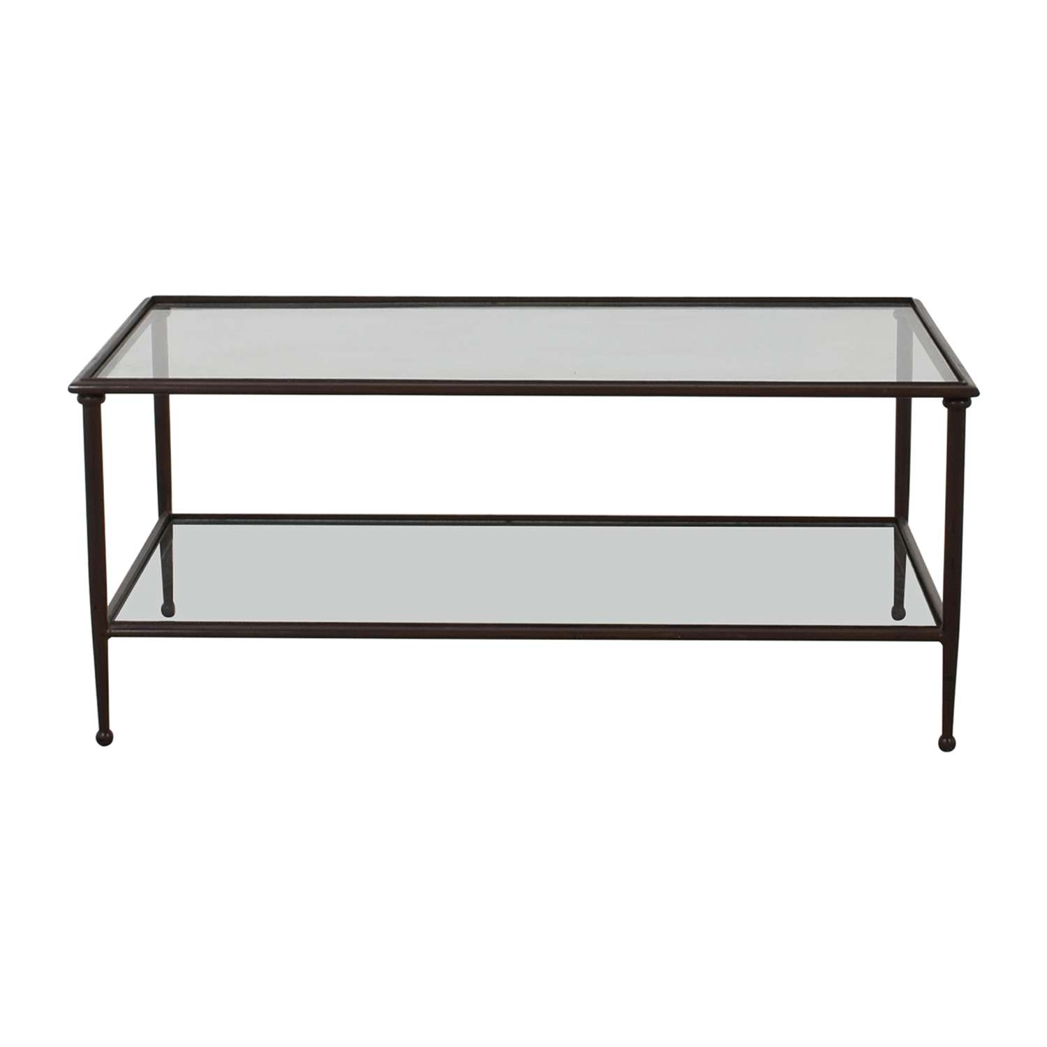 [%best And Newest Revolving Glass Coffee Tables With 72% Off – Wood Metal Scroll And Glass Coffee Table / Tables|72% Off – Wood Metal Scroll And Glass Coffee Table / Tables Regarding Well Known Revolving Glass Coffee Tables%] (View 19 of 20)