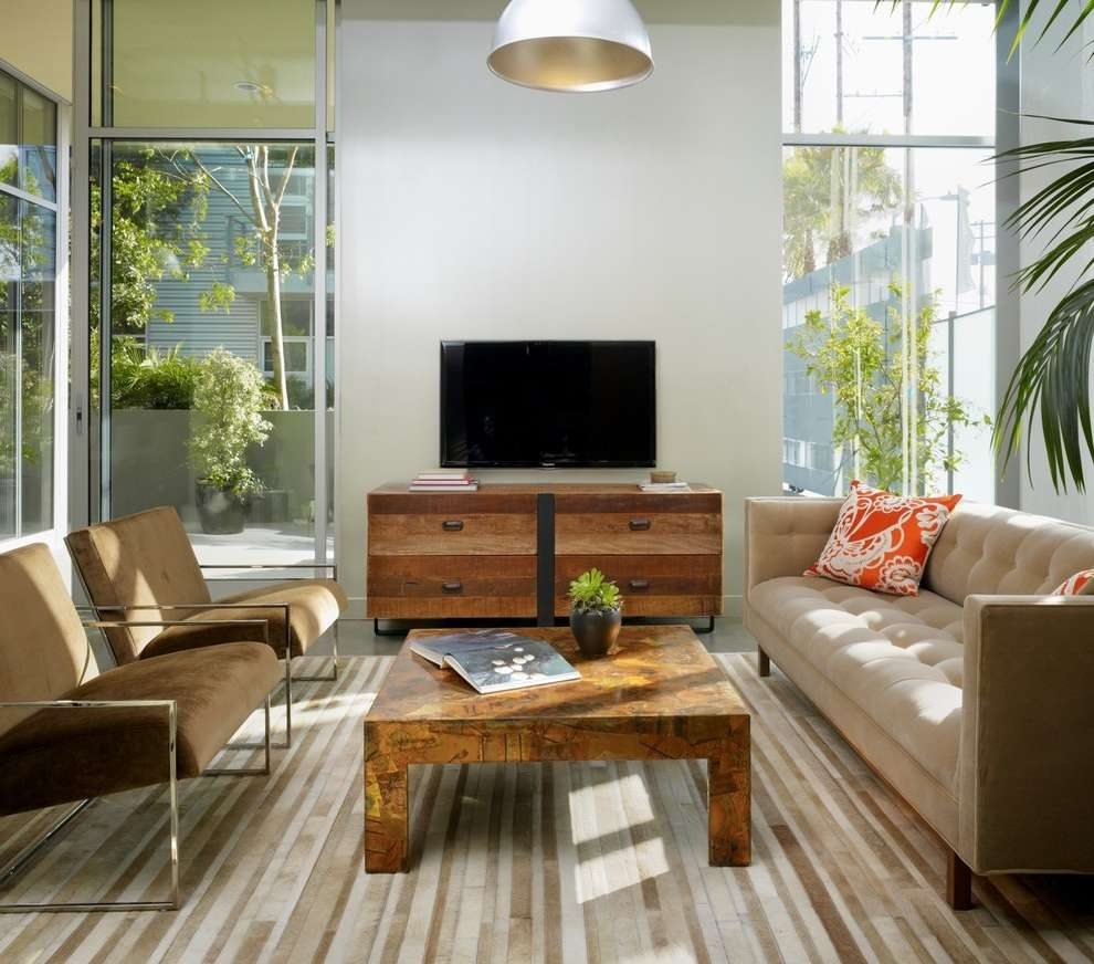 Best And Newest Rustic Coffee Table And Tv Stand In Living Room (View 5 of 20)