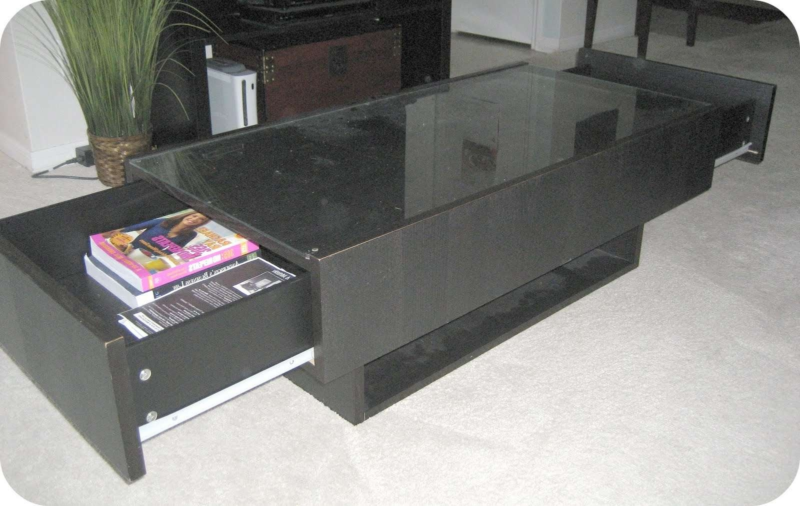 Best And Newest Small Coffee Tables With Drawer With Regard To Black Coffee Table With Drawers – Writehookstudio (View 3 of 20)