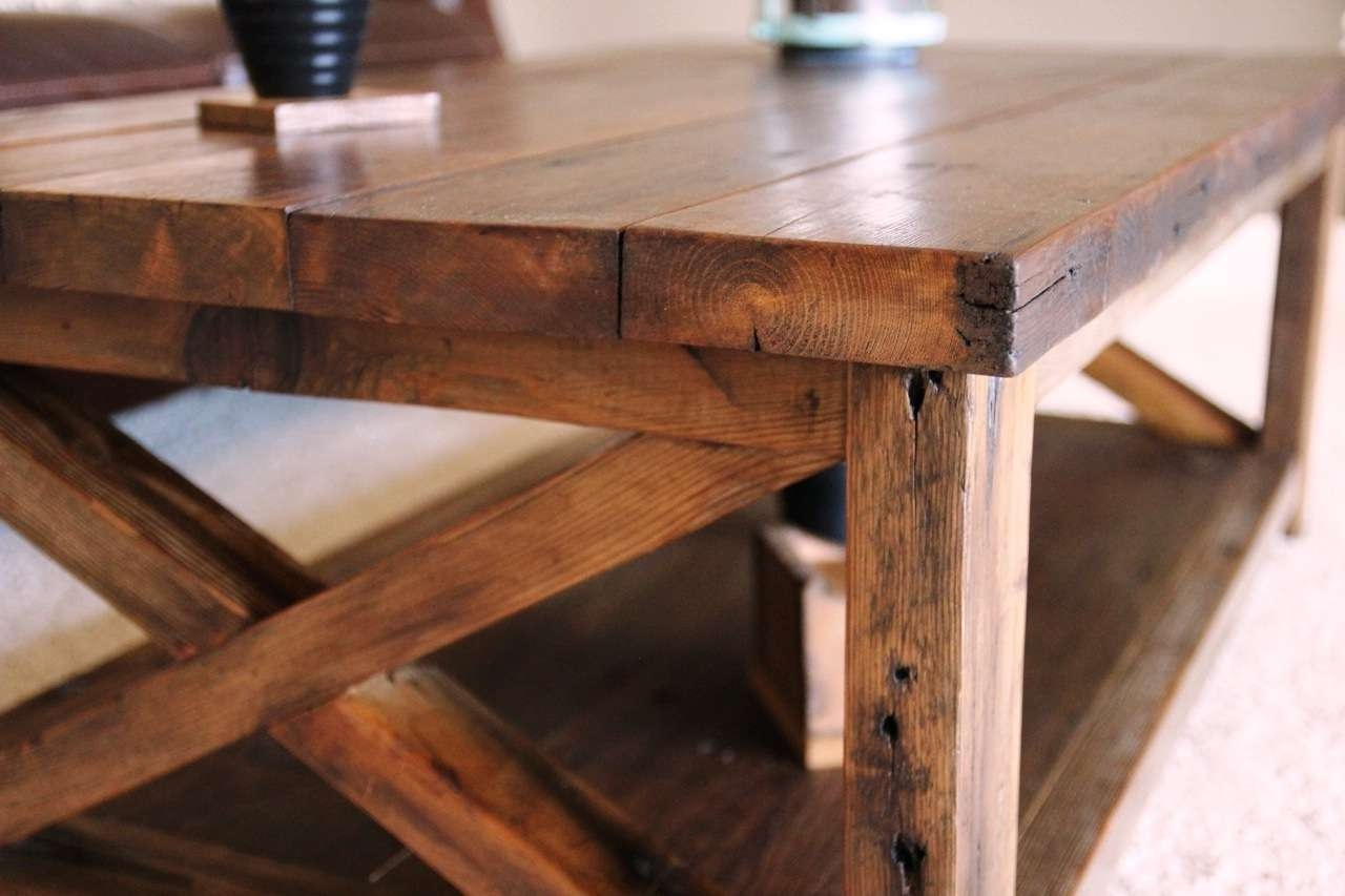 Best And Newest Square Shaped Coffee Tables Throughout Beautiful Inspiration Rustic Coffee Table – Diy Rustic Coffee (View 14 of 20)