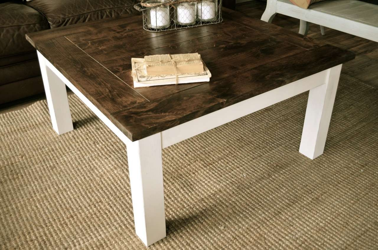 Best And Newest White And Brown Coffee Tables With Coffee Tables : Marble Top Occasional Tables Square Cocktail Table (View 4 of 20)