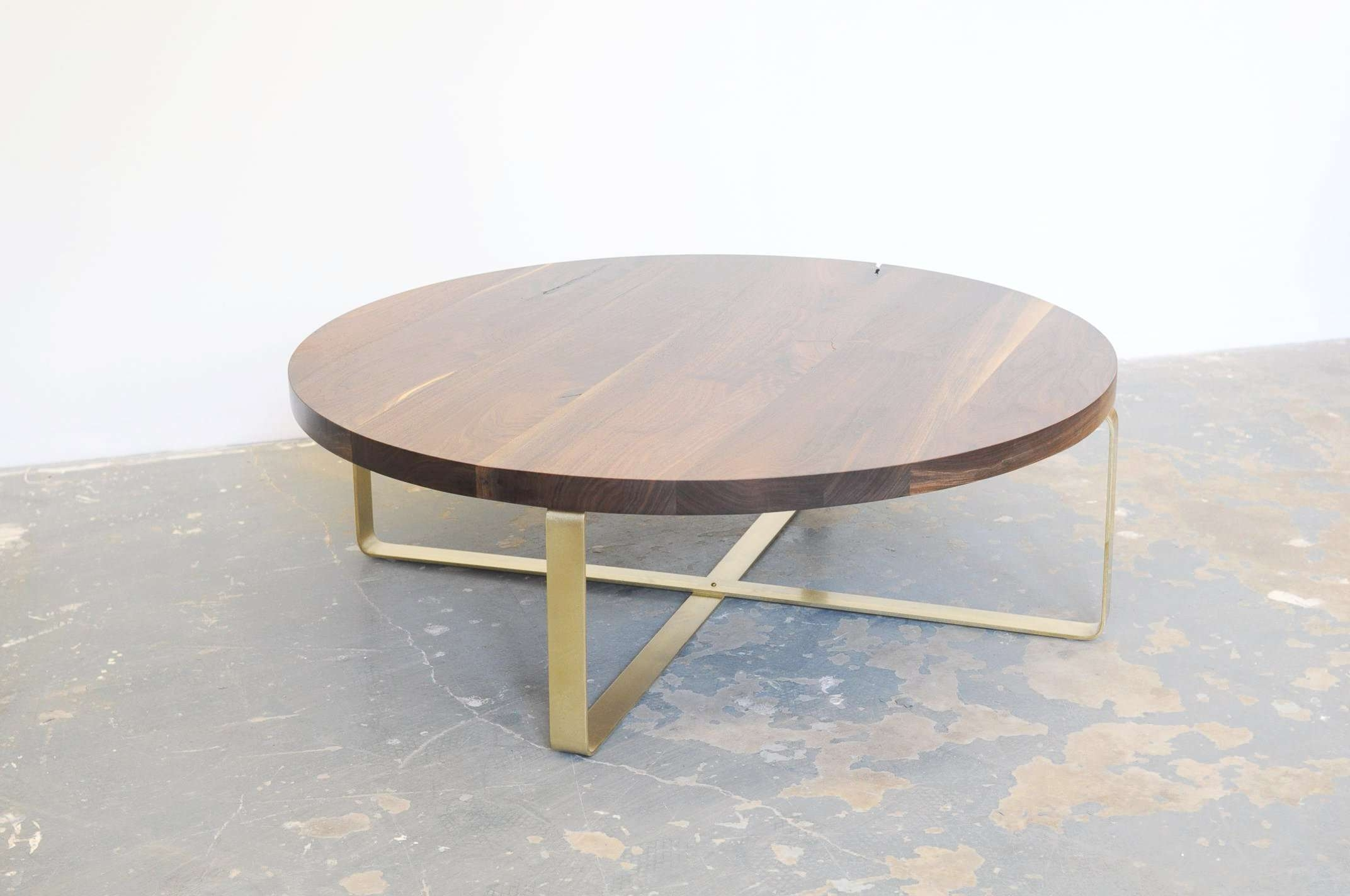 Best And Newest White And Glass Coffee Tables With Regard To Coffee Table : Marvelous Brass Side Table Round White Marble (View 2 of 20)
