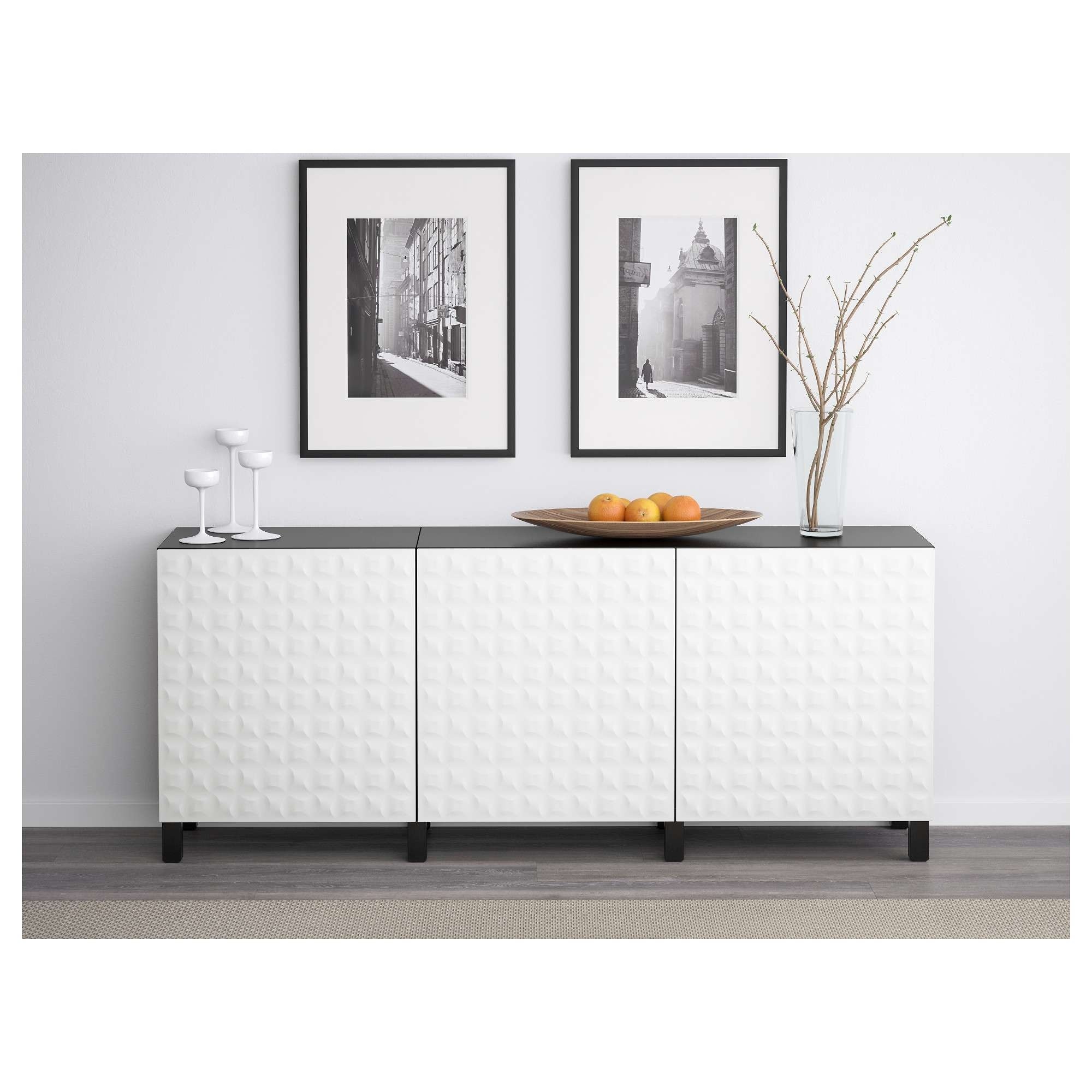 Bestå Storage Combination With Doors – White/selsviken High Gloss Within White Gloss Ikea Sideboards (View 16 of 20)