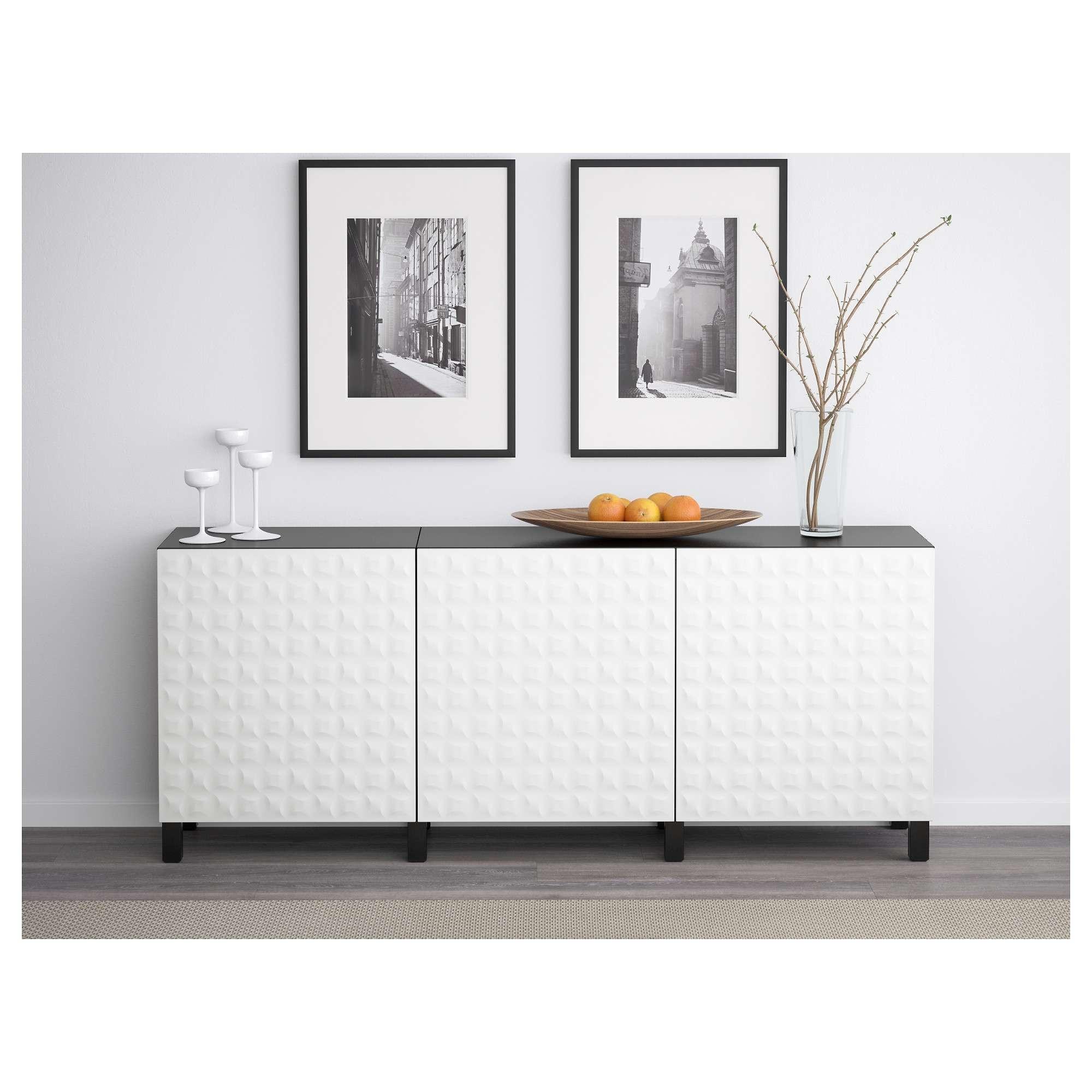 Besta Storage Combination With Doors Whiteselsviken High Gloss In Ikea Besta Sideboards (View 1 of 20)