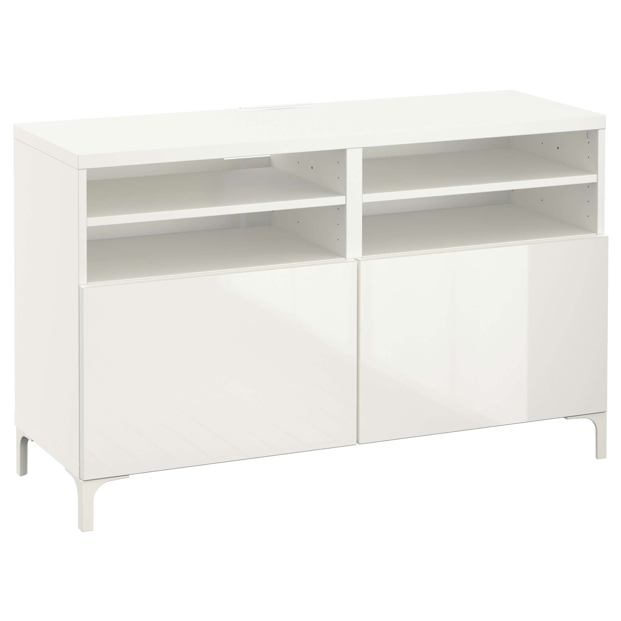 Bestå Tv Unit With Doors – White/selsviken High Gloss/white – Ikea With White Gloss Ikea Sideboards (View 11 of 20)