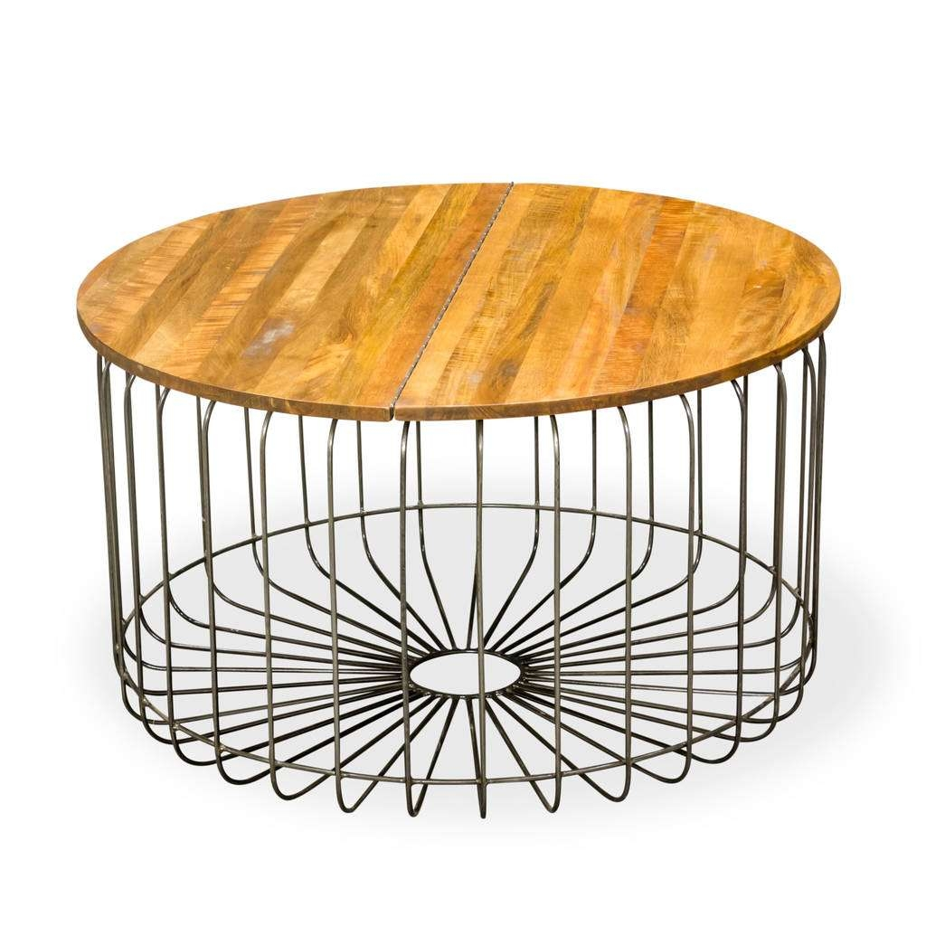 Birdcage Round Storage Coffee Tablethe Orchard Furniture In Best And Newest Round Storage Coffee Tables (View 6 of 20)