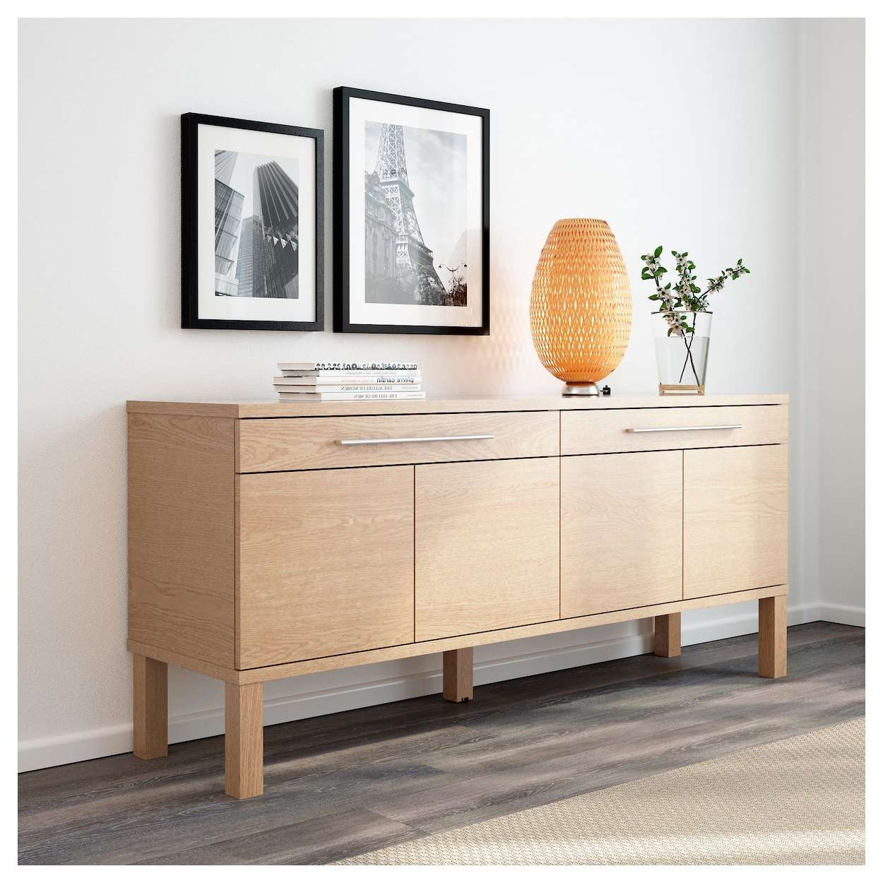 Bjursta Sideboard Oak Veneer 155x68 Cm Ikea – 28 Images – Ikea In Ikea Bjursta Sideboards (View 15 of 20)