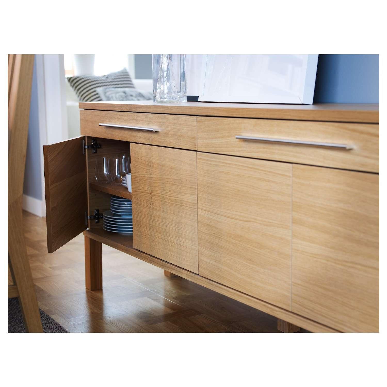 Bjursta Sideboard Oak Veneer 155X68 Cm Ikea – 28 Images – Ikea Pertaining To Ikea Bjursta Sideboards (View 3 of 20)