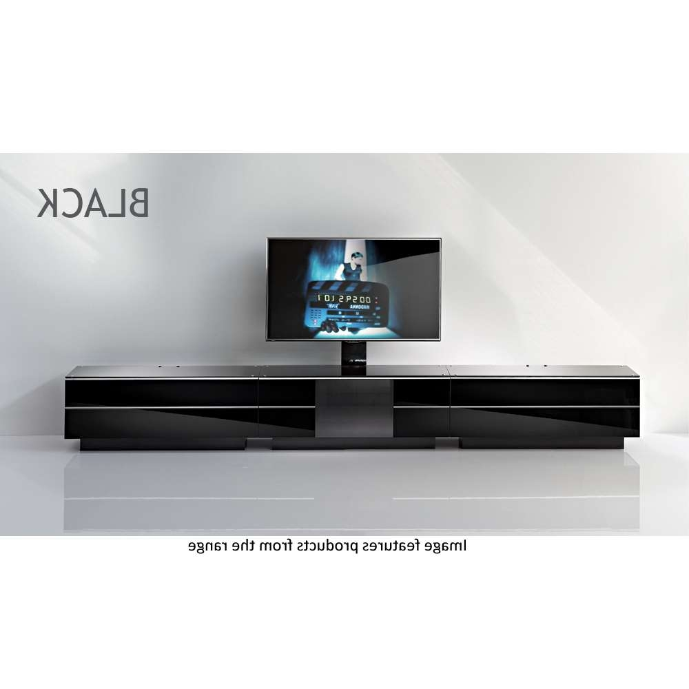 Black G S 135 Bl Tv Unit 135cms In Black Gloss Tv Cabinets (View 19 of 20)