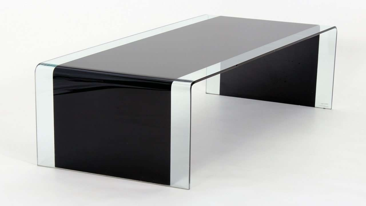 Black Glass Coffee Table Curved — The Decoras Jchansdesigns Pertaining To Recent Black Glass Coffee Tables (View 4 of 20)