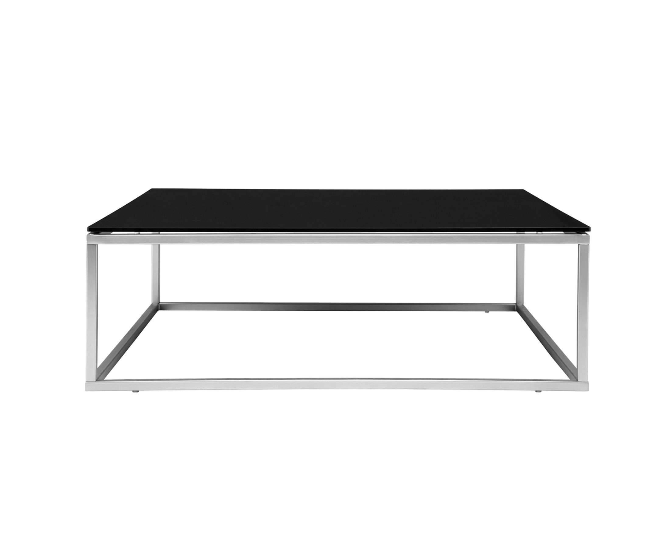 Black Glass Coffee Table With Chrome Legs • Coffee Table Design Within Well Known Chrome Leg Coffee Tables (View 2 of 20)