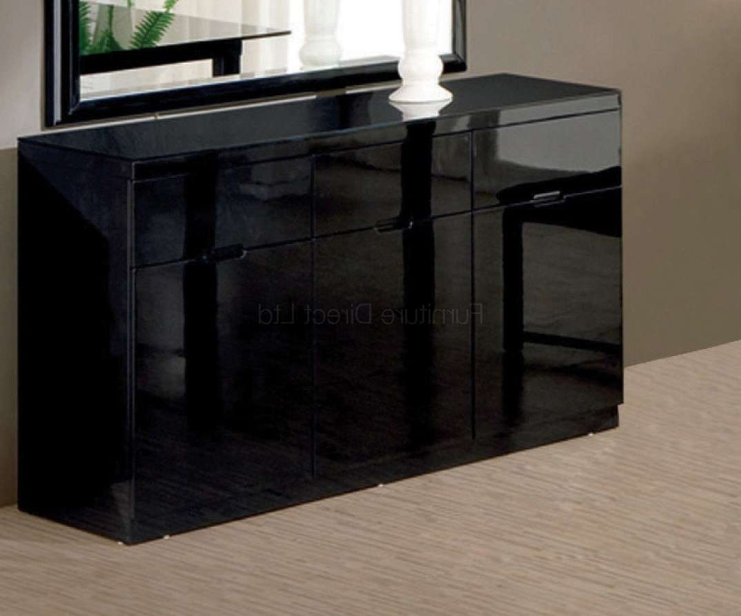 Black Gloss Furniture Throughout Gloss Sideboards Furniture (View 2 of 20)