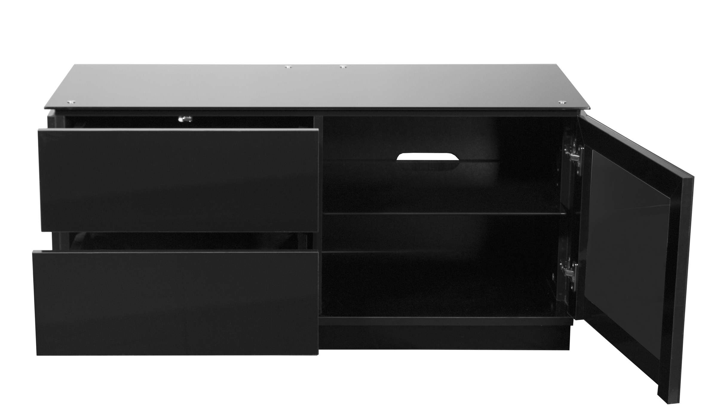 "Black Gloss Tv Cabinet Up To 50"" Tv 