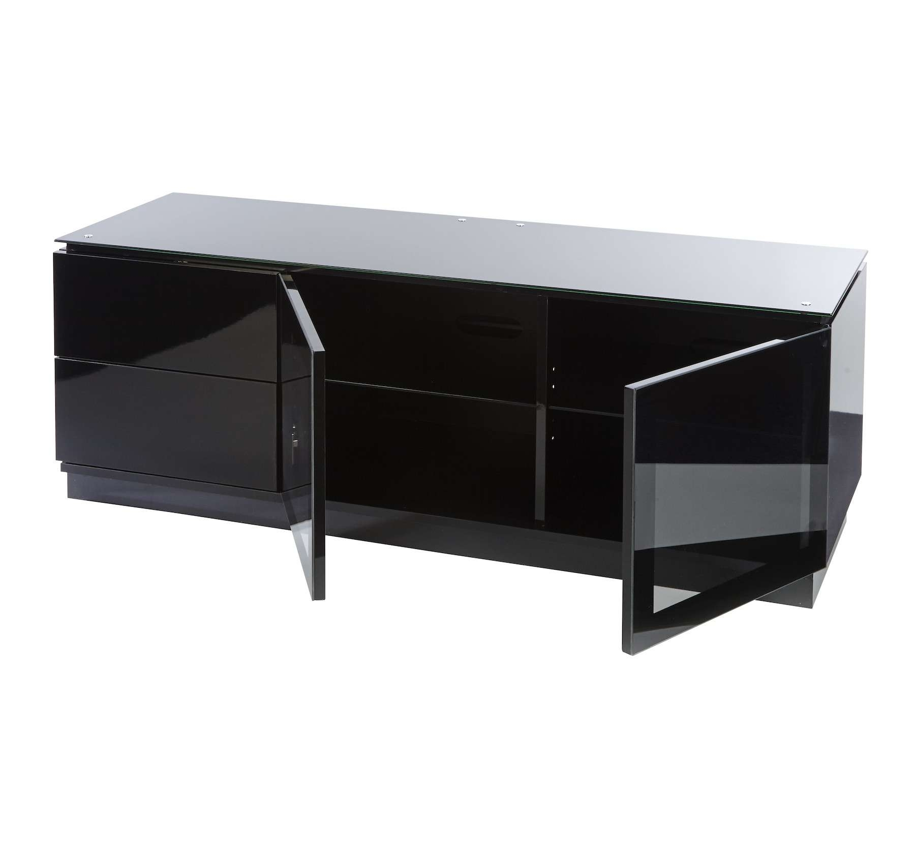 "Black Gloss Tv Cabinet Up To 55"" Tv 