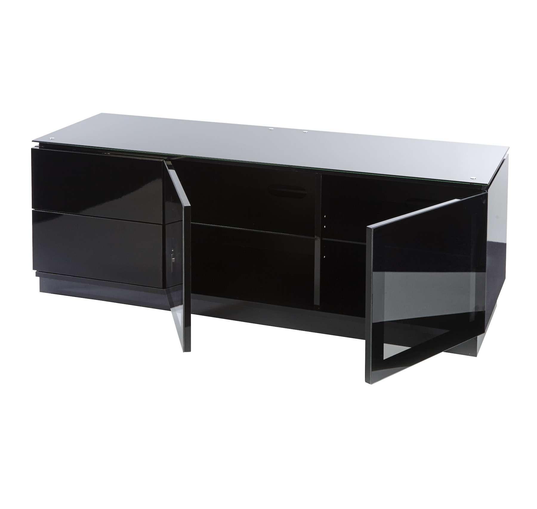 "Black Gloss Tv Cabinet Up To 55"" Tv | Casino Mmt C1350b For Black Gloss Tv Cabinets (View 14 of 20)"