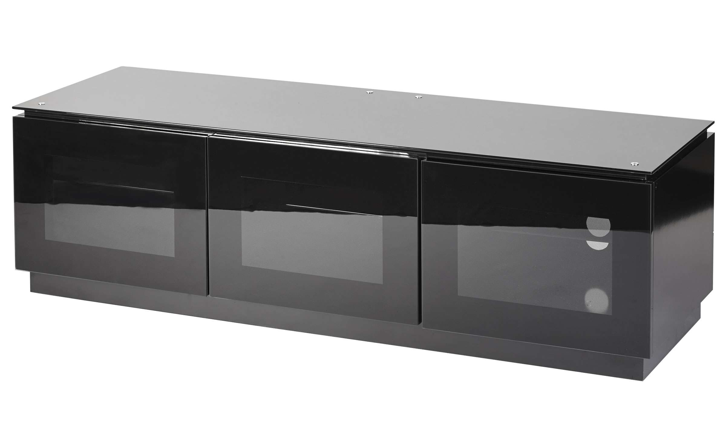 Black Gloss Tv Unit Up To 65 Inch Flat Tv | Mmt D1500 Throughout Black Tv Cabinets With Doors (View 6 of 20)