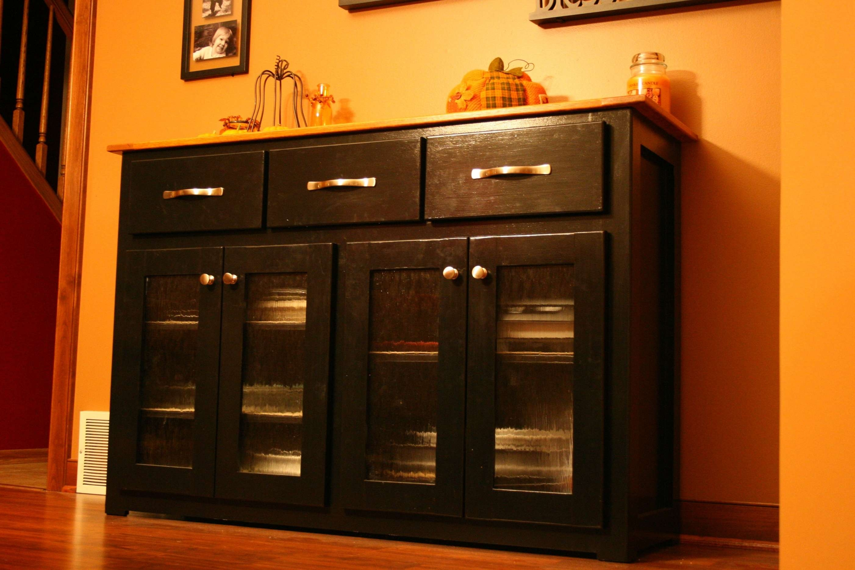 Black Kitchen Sideboard Light Wood Buffet White Buffet With Glass In Sideboards With Glass Doors (View 18 of 20)
