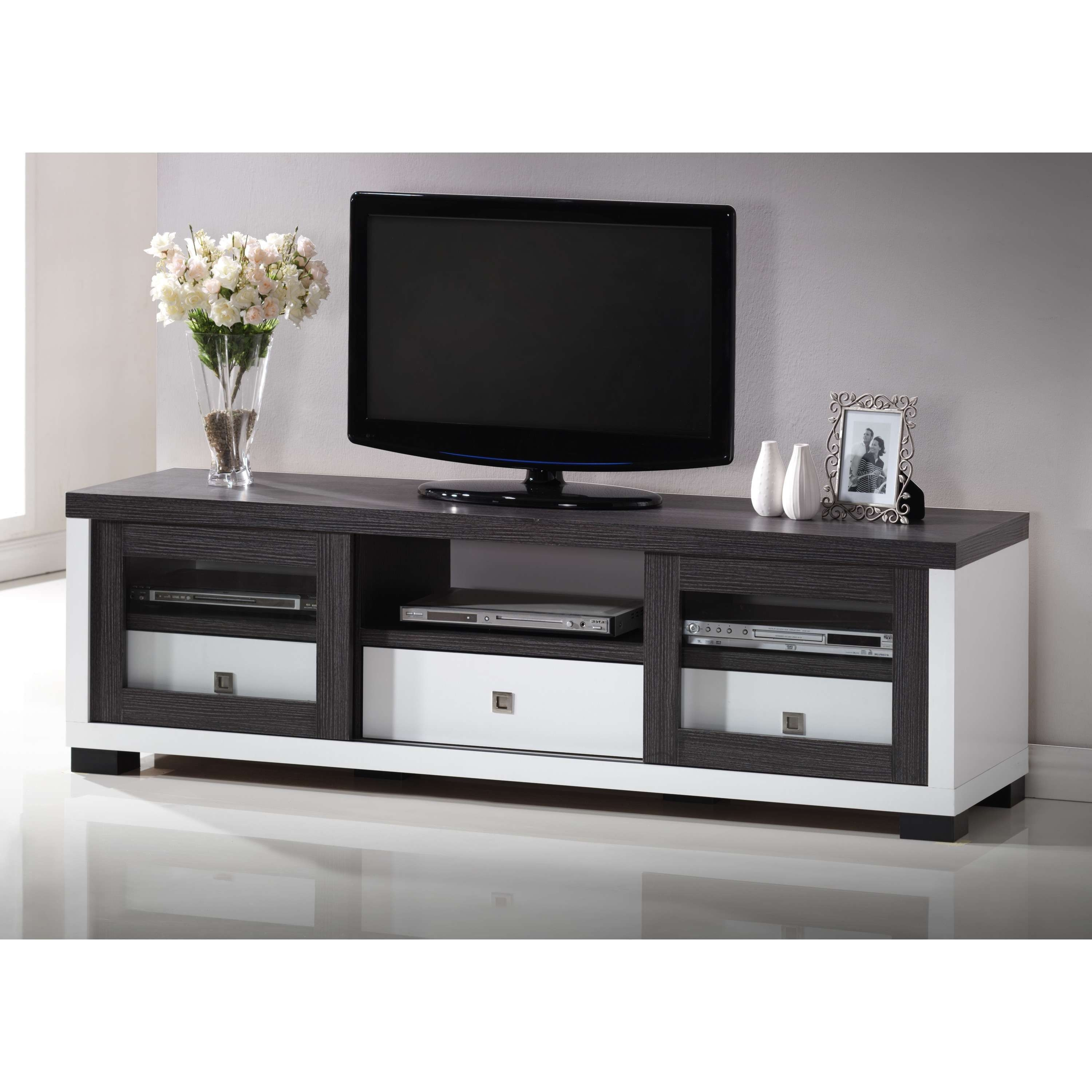 Black Tv Stand. Au0026X Padua Modern Black Tv Stand (View 6 of 20)