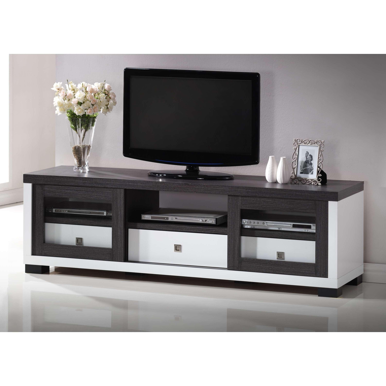 Black Tv Stand. Au0026x Padua Modern Black Tv Stand (View 11 of 20)