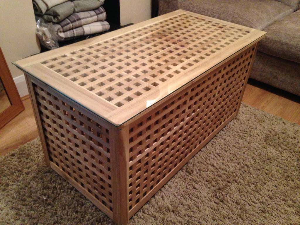 Blanket Box Coffee Table Storage With Glass Top Ikea (View 2 of 20)