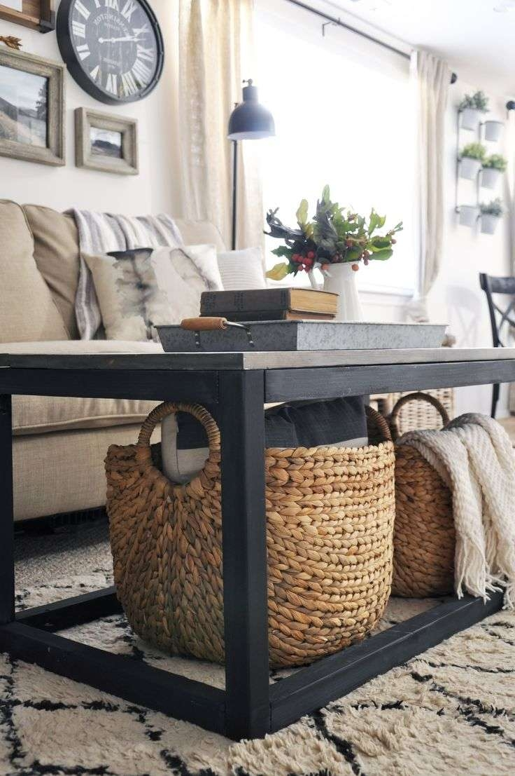 Blanket Storage, Cozy Regarding Trendy Coffee Tables With Baskets Underneath (View 4 of 20)