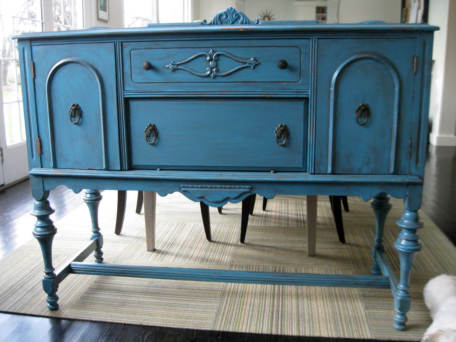 Blue Distressed Sideboard : Rocket Uncle – Easy Diy Distressed In Distressed Sideboards And Buffets (View 4 of 20)