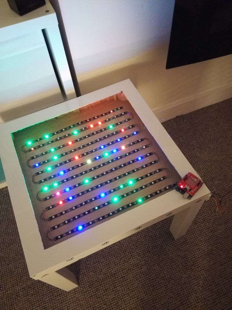Bluetooth Controlled Arduino Led Coffee Table: 10 Steps (With In Trendy Led Coffee Tables (View 1 of 20)