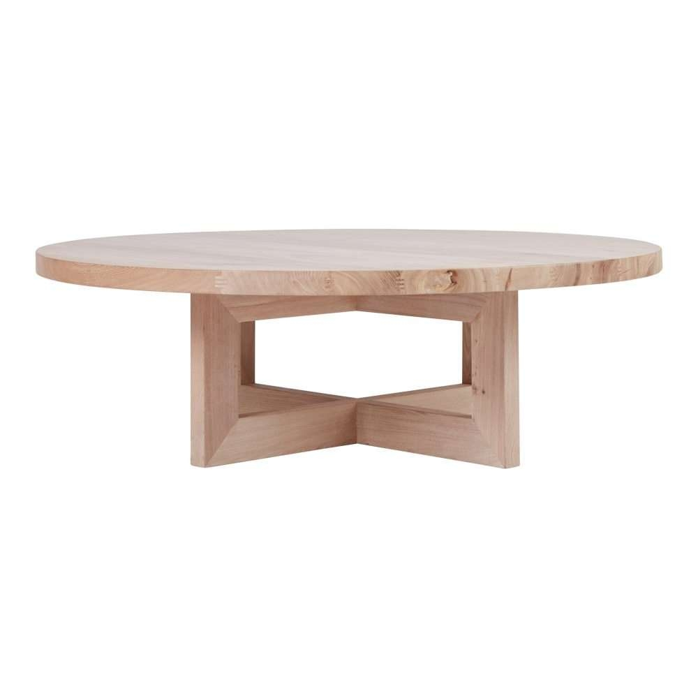 Bondi Round Oak Coffee Table – Solid Timber Accent Tables Within Well Known Solid Round Coffee Tables (View 1 of 20)