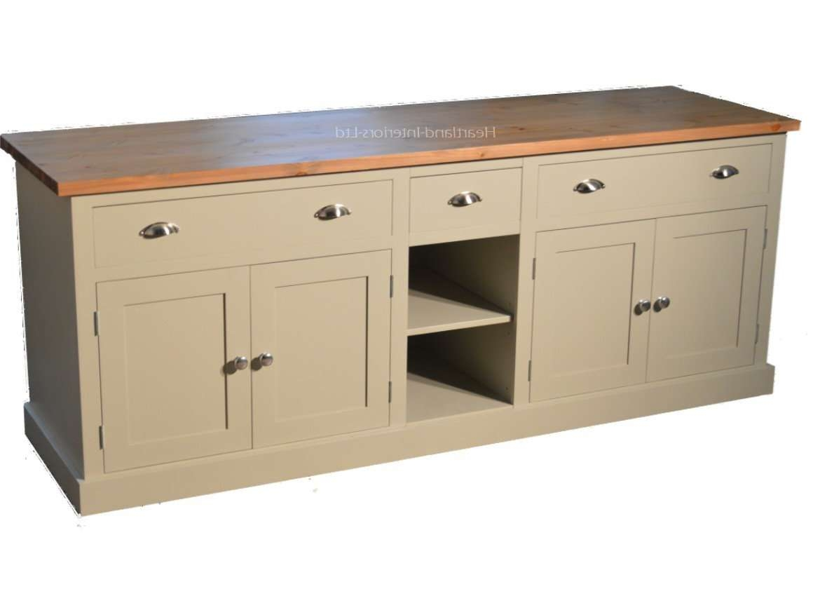 """Bordeaux F&b Painted 7ft Wide """"extra Deep"""" Sideboard With Drawers Regarding Deep Sideboards (View 9 of 20)"""