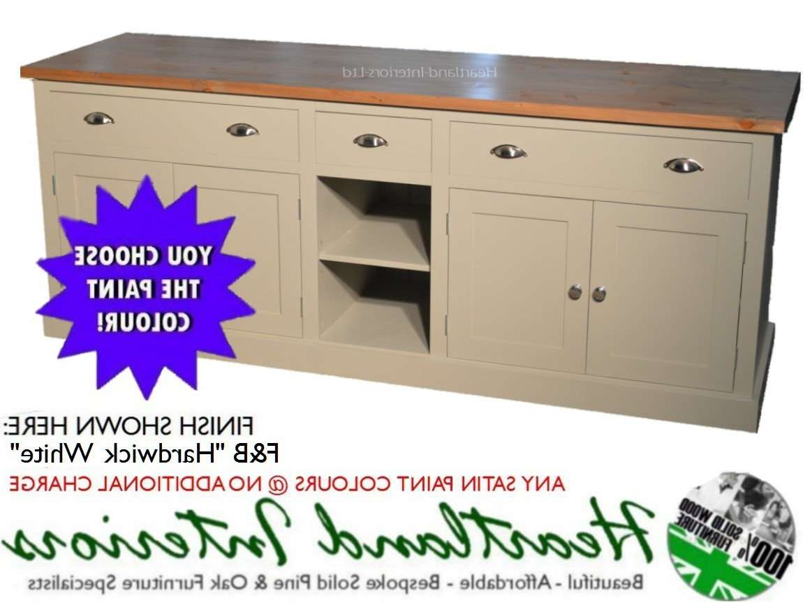 "Bordeaux F&b Painted 7ft Wide ""extra Deep"" Sideboard With Drawers Regarding Extra Deep Sideboards (View 7 of 20)"