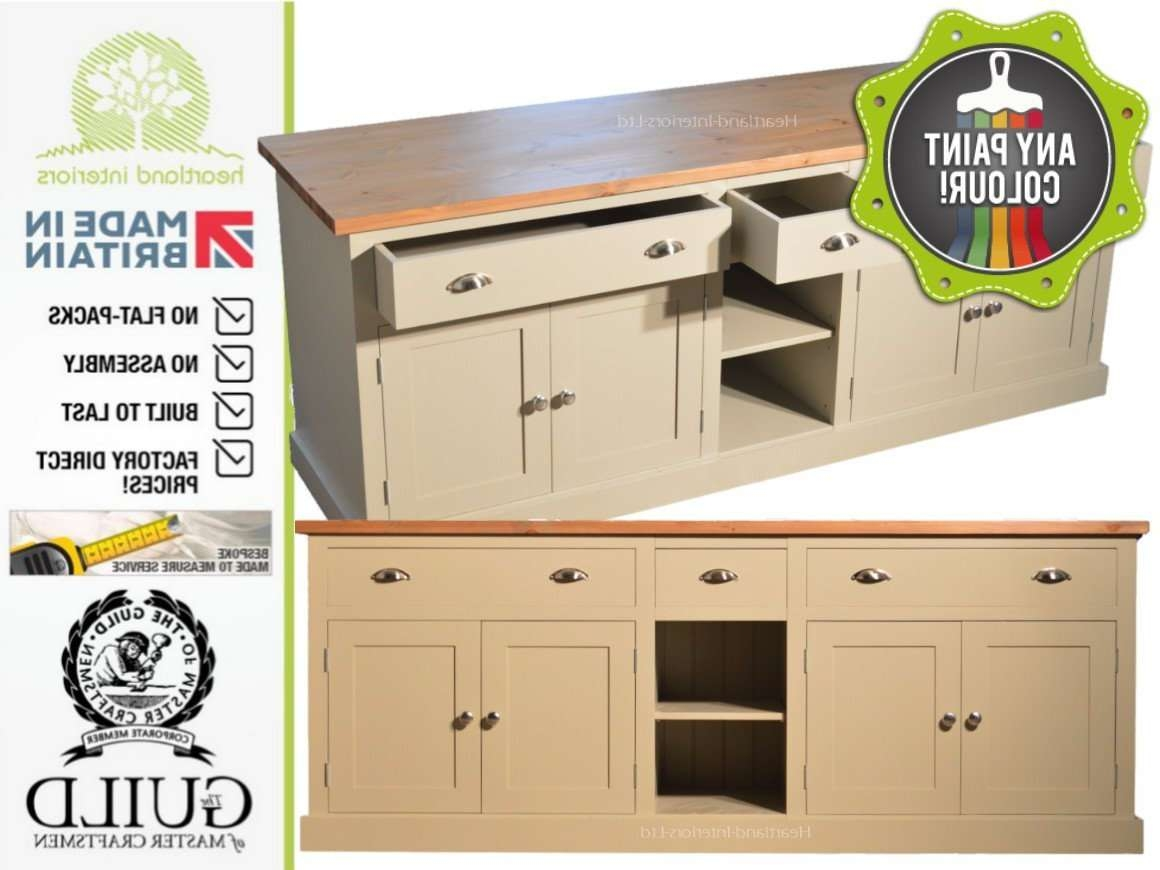 "Bordeaux F&b Painted 7ft Wide ""extra Deep"" Sideboard With Drawers Regarding Extra Deep Sideboards (View 5 of 20)"
