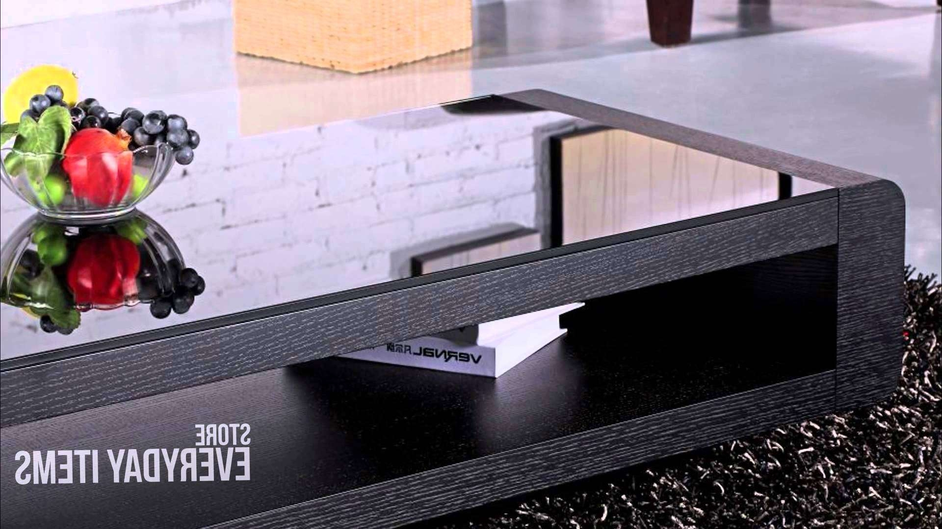 Bordeaux Glass Top Coffee Table In Black Oak Veneer – Youtube Intended For Current Oak Veneer Coffee Tables (View 2 of 20)
