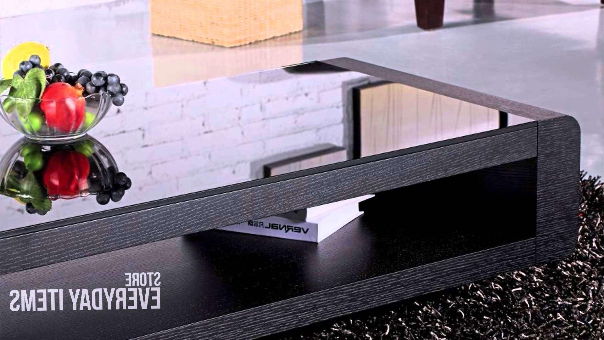 Bordeaux Glass Top Coffee Table In Black Oak Veneer – Youtube Intended For Current Oak Veneer Coffee Tables (View 13 of 20)