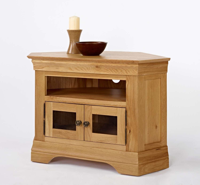 Bordeaux Oak Corner Tv Cabinet | Oak Furniture Solutions In Solid Oak Corner Tv Cabinets (View 3 of 20)
