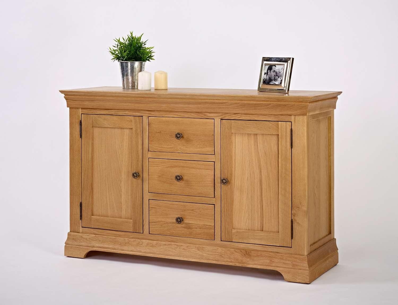 Bordeaux Oak Large Sideboard | Oak Furniture Solutions For Oak Sideboards (View 1 of 20)