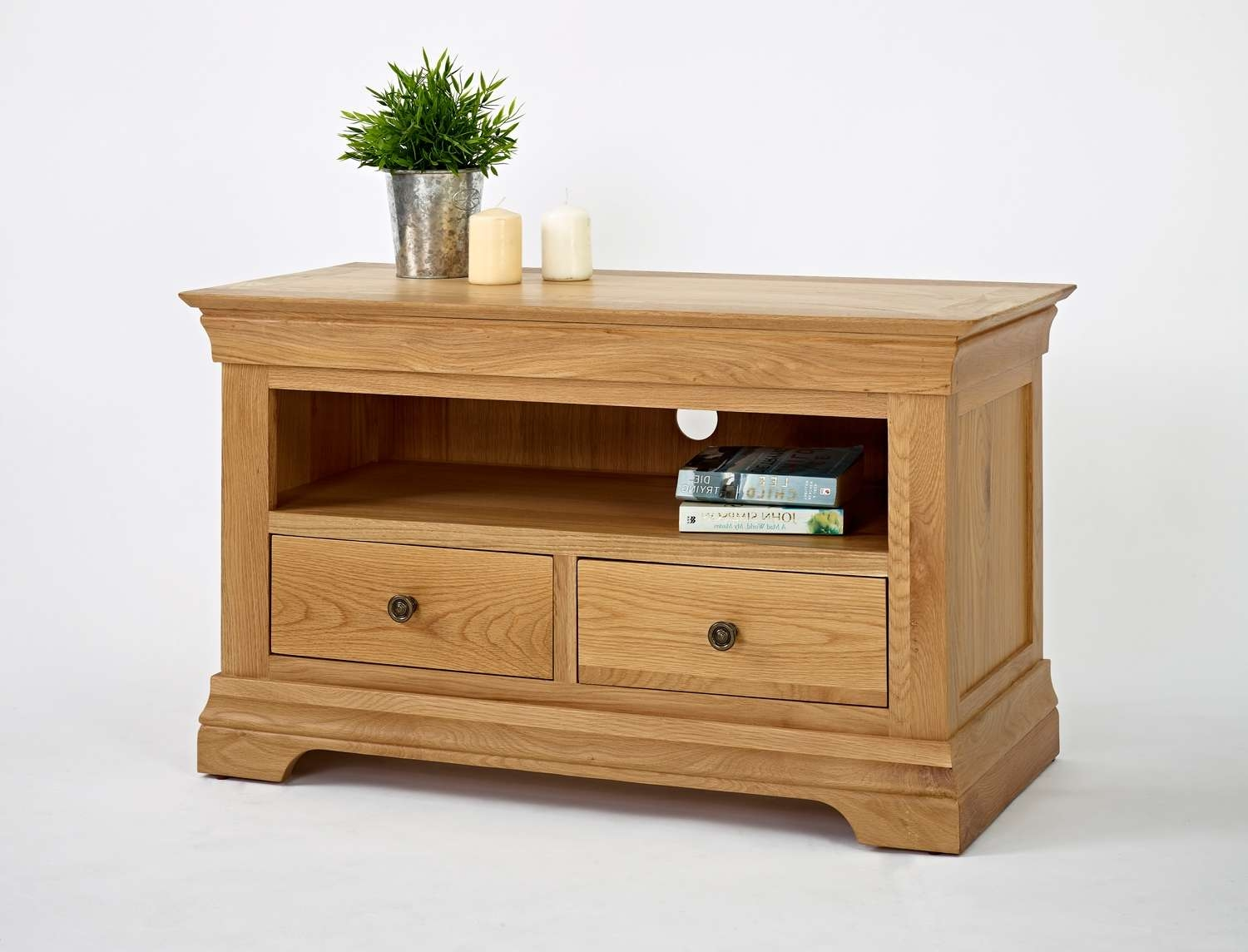Bordeaux Oak Small Tv Unit | Oak Furniture Solutions For Small Oak Tv Cabinets (View 3 of 20)